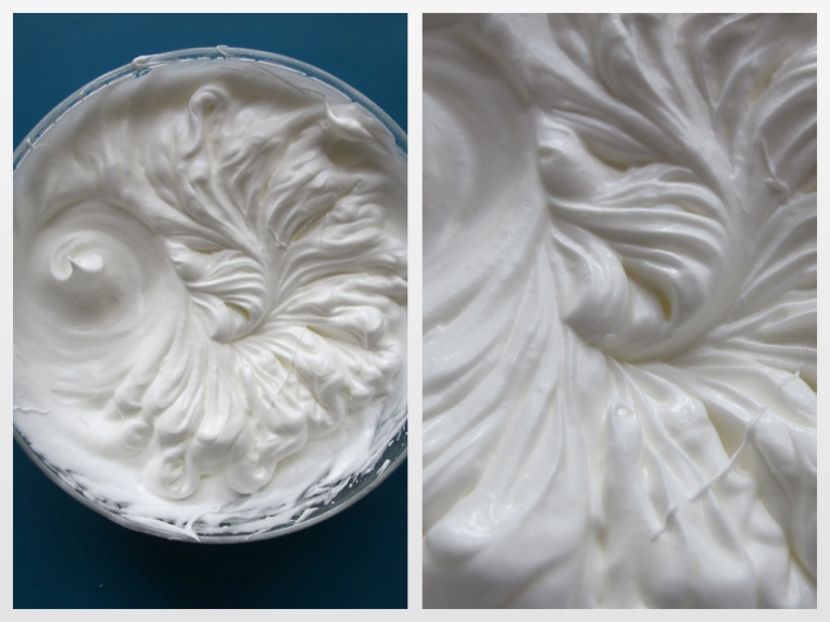Une belle meringue glossy glossy, comme les cheveux de Leila Bekhti